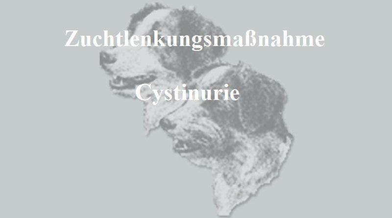 Neufassung der Zuchtlenkungsmaßnahme Cystinurie